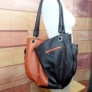 Espe 2 tones faux leather purse multi pockets